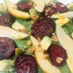 Beet Pear Salad with Orange Vinaigrette