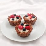 Cinnamon Almond Butter Granola Yogurt Cups