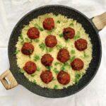Eggplant Meatballs with Cauliflower Rice_LD1