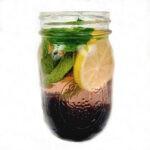Lemon Blackberry Mint Infused Water