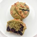 Matcha Bluberry Muffins with Walnut Crumb Topping