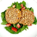 Walnut Crusted Sweet Potato Cakes