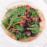 Single Serving Salad Pizza