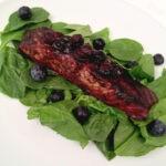 Blueberry Balsamic Glazed Salmon