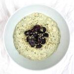 Matcha Hemp Seed Blueberry Overnight Oats