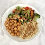 Chickpea Almond Ginger Bowl