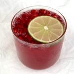 Pomegranate Lime Sparkler