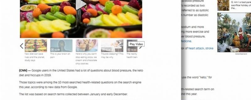 CNN.com: Top 10 health questions America asked Dr. Google in 2019