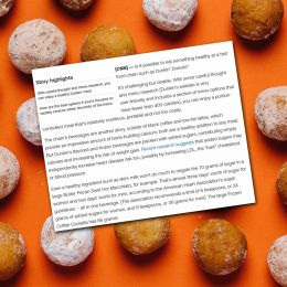 Dunkin' Donuts' menu, as curated by a nutritionist
