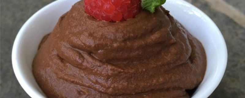 Dark Chocolate Sweet Potato Mousse