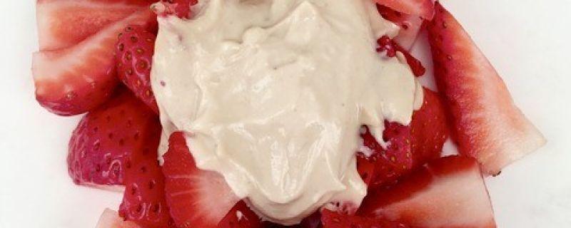 Strawberries with Chamomile Cashew Cream