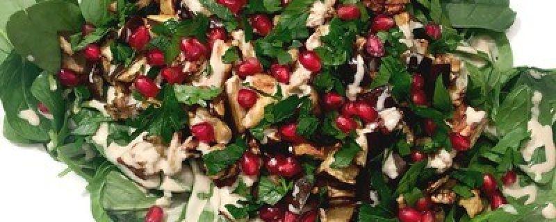 Roasted Eggplant Tahini Salad