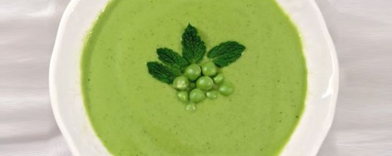 Chilled Pea and Green Tea Soup