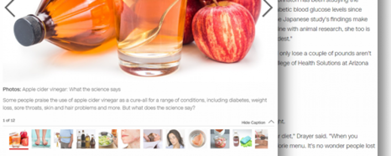 CNN.com: Apple cider vinegar and weight loss – what the experts say