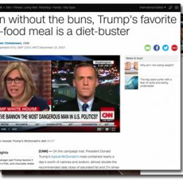 CNN.com: Even without the buns, Trump's favorite fast-food meal is a diet-buster