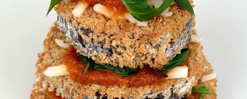 Baked Eggplant Parm Stacks