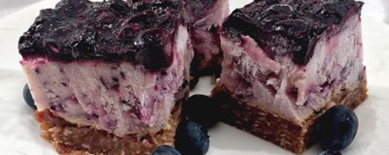 Blueberry Pie Frozen Yogurt Bars