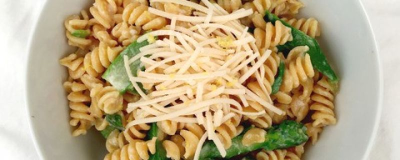 Creamy Lemon Asparagus Pasta