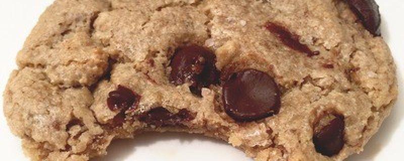 Dark Chocolate Chip Tahini Sea Salt Cookies