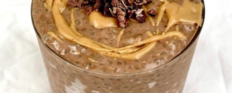 Chocolate Peanut Butter Banana Chia Pudding