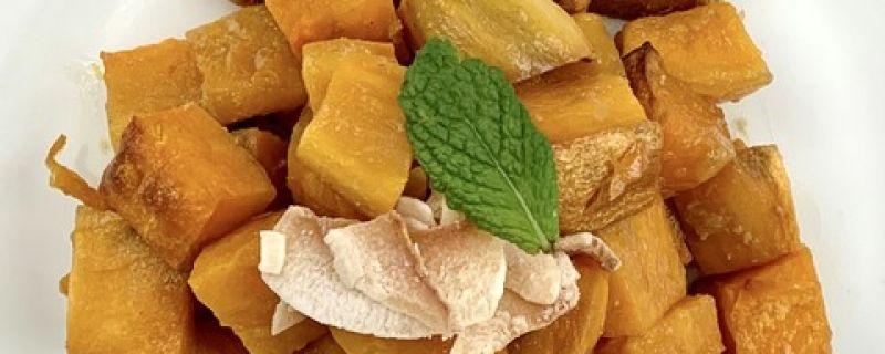 Coconut Ginger Glazed Sweet Potatoes